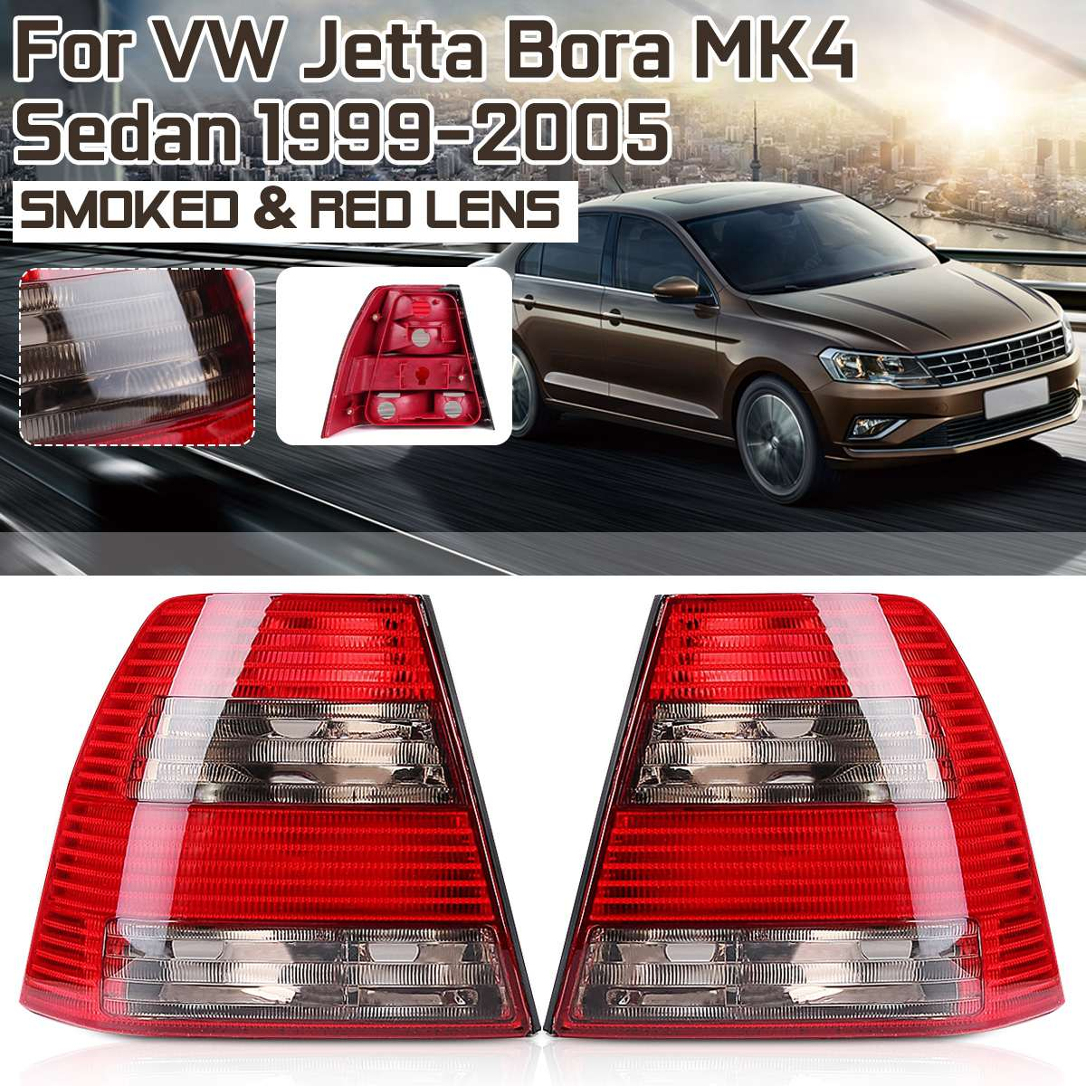 Feu arrière Pour Volkswagen Vw Jetta Bora MK4 Berline 1999 2000 2001 2002 2003-2005 Feu Arrière Arrière Lampe De Frein Accessoires