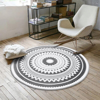 New 1pcs Round Carpet Home Decoration Outdoor Mat 6 Style Selection Material Soft Free Mail