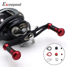 Exceepand  Powerful Baitcaster Fishing Reel Handle for Abu Garcia Daiwa Low Profile Baitcasting Reel Grips Carbon Fiber Tubes