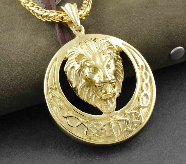 2015 best selling 316l stainless steel jewelry mens golden celtic 2015 best selling 316l stainless steel jewelry mens golden celtic knot lion king stainless steel pendant aloadofball Images