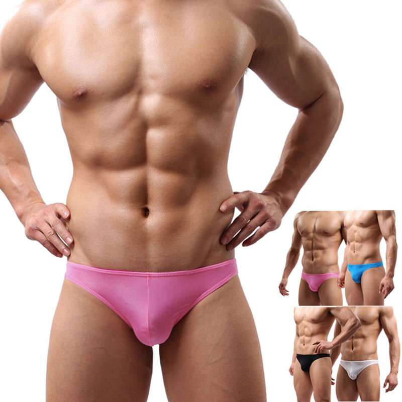 2017 Hot Men's Translucent Ultra-Thin Sexy Briefs Intimates Breathable Soft Solid Exotic Briefs Sexy Shorts Underpant L/XL/XXL(China)