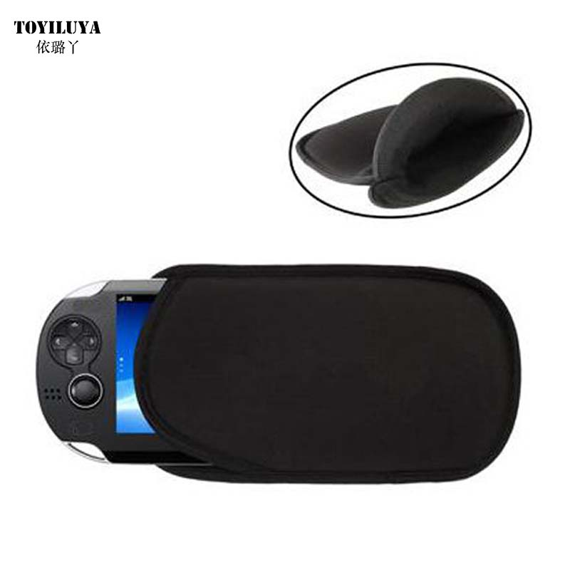 Black Soft pouch Bag PSVITA Case Shell Protector for Sony PSV Console Sponge Bag Game PS Vita 1000 2000 Slim Case & 1 Hand Strap
