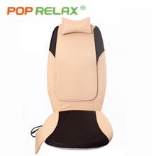 POP RELAX DC12V electric vibrator massage seat health care mobile shiatsu roller massage cushion back rolling heating massager