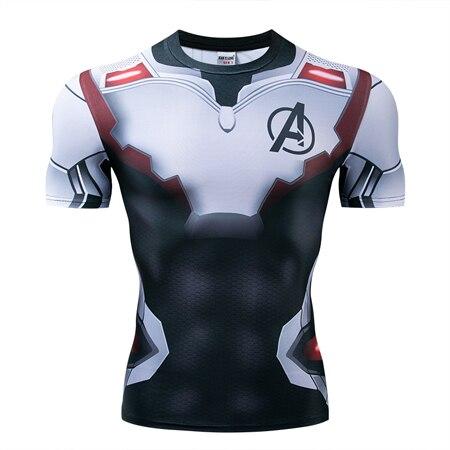 Мстители эндгейм футболка Квантовая царство компрессионная с коротким рукавом для мужчин тренажерный зал Спорт Фитнес окрашенные футболки спортивная одежда для мужчин - Цвет: DX-039
