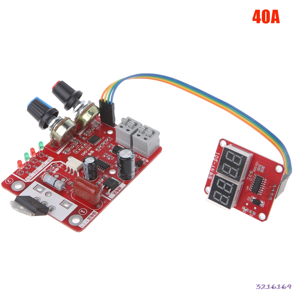 Spot Welder Time Control Board 40A Current Controller with Digital Display