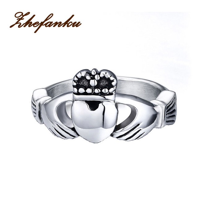 The Irish Wedding Ring My Hands Give You Heart Anium Steel Love Vintage Crown Rings
