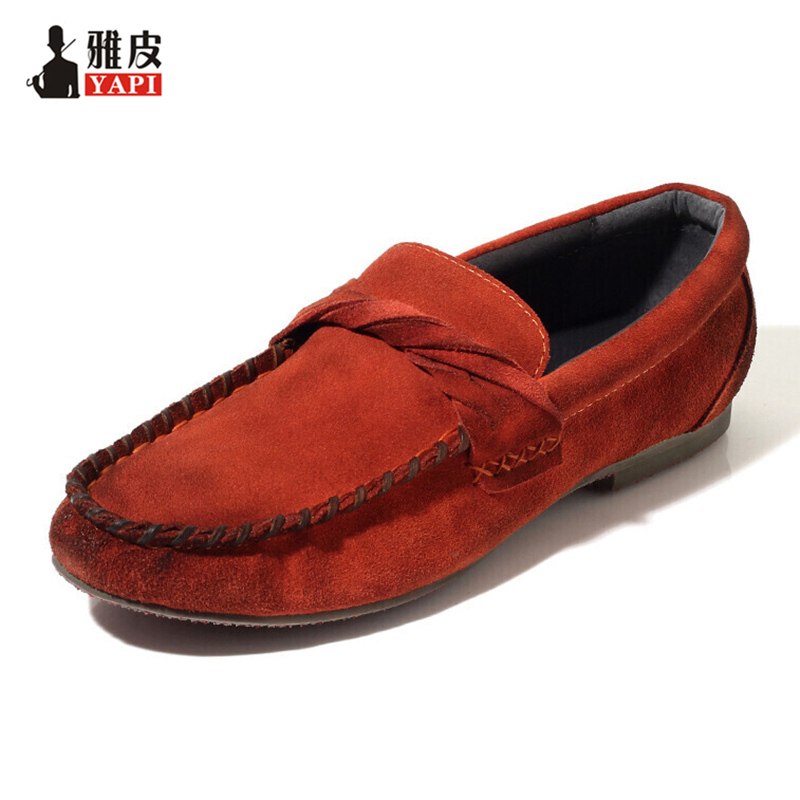 US6-10 Top Genuine Leather Casual SLIP-ON Men Loafer Shoes Hight Quality Driving Car Shoes Fashion Designer Shoes 2 colors us size 6 10 slip on leather casual men driving loafer moccasin summer sandals shoes