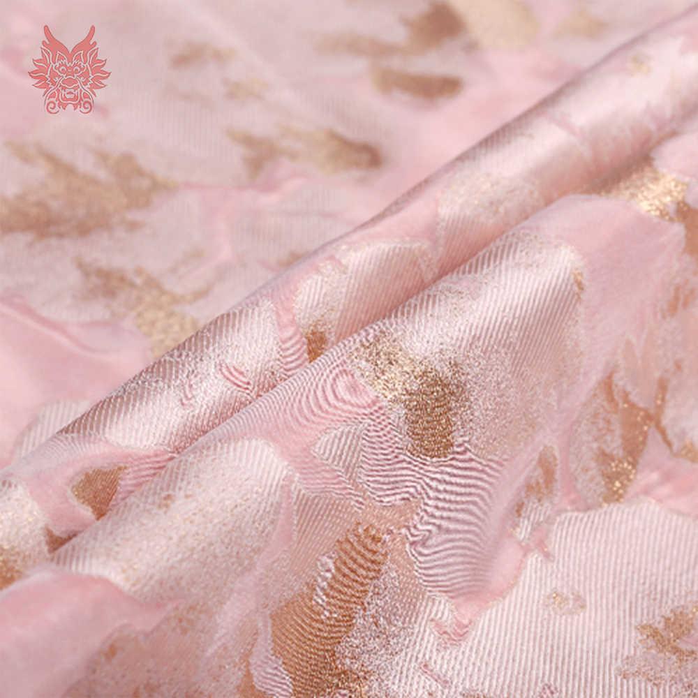 Европейский и американский стиль розовый цветочный с металлическим из жаккардовой парчи для платья пальто tissu tecidos stoffen ткань SP4484