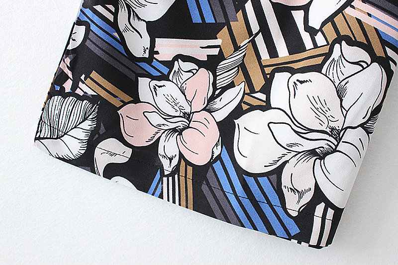 Bella Philosophy 2017 spring summer jumpsuit Women floral print bow waist jumpsuit sleeveless wide leg jumpsuit 21