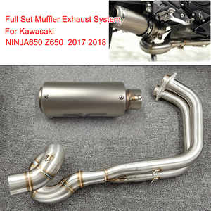 Z650 NINJA650 2017 2018 Motorbike Exhaust Full System Pipe Muffler Header Pipe Stainless Steel 51mm for Kawasaki Z650 NINJA 650