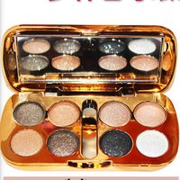 8 Colors Pearl Shimmer Glitter Eyeshadow Palette Matte Metallic Mineral Pigment Makeup Smooth Eyes Shadow Eyeshadow