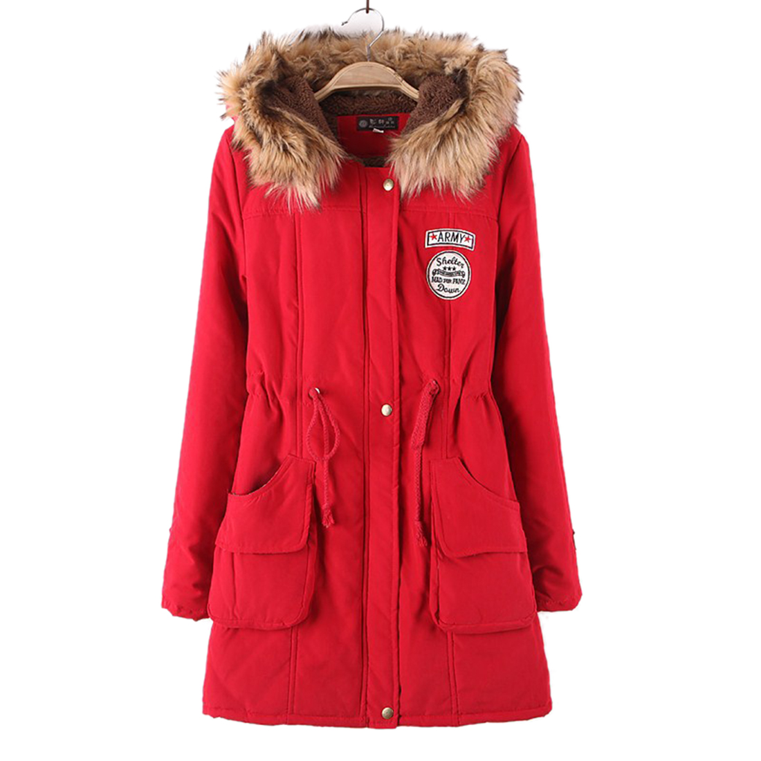 New Women Winter Warm Thicken Jacket Coat Female Autumn Hooded Cotton Fur Basic Jacket Outerwear Slim Long Ladies Casaco Feminin