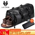 LIELANG Мужская черная сумка для путешествий водонепроницаемая кожаная большая Вместительная дорожная Сумка многофункциональная сумка повсе...