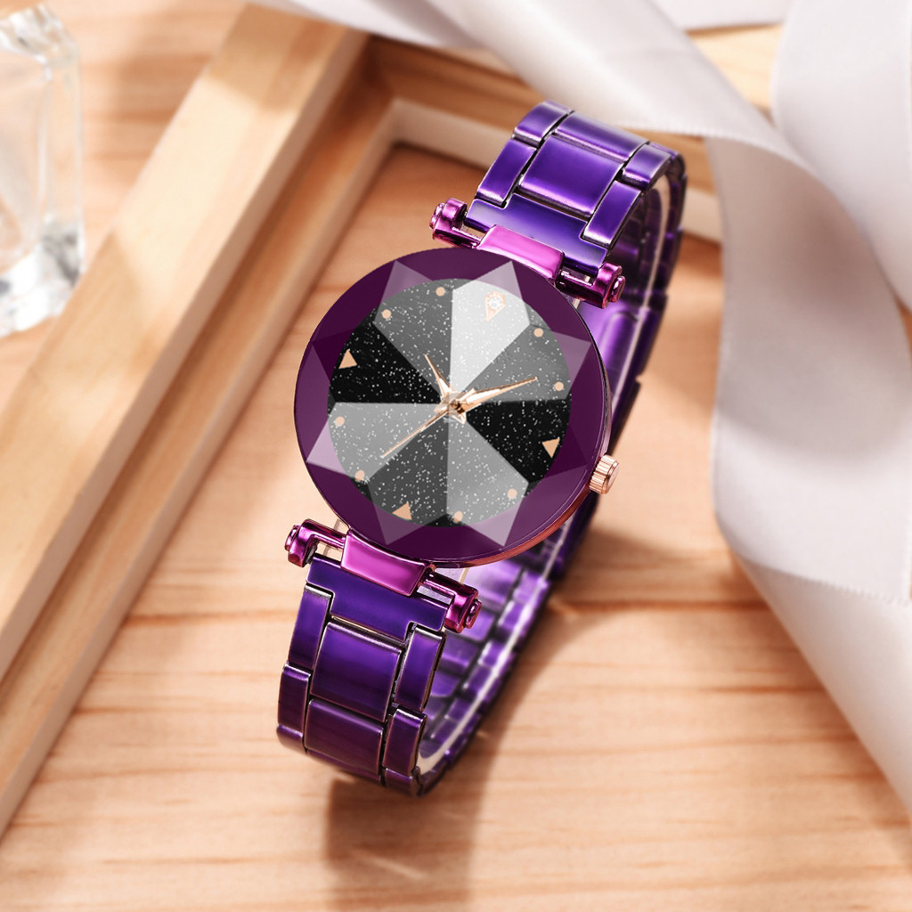 OTOKY Women's Watches Fashion Simple Cool Multi Angle Raise Star Sky Dial Ladie Steel Belt Quartz Watches Top Brand Luxury 2019