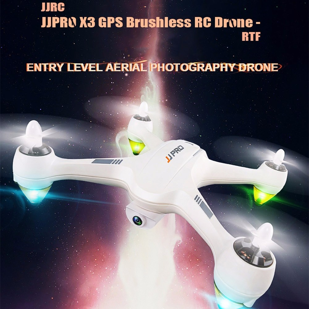 JJRC JJPRO X3 HAX Brushless Double GPS WIFI FPV w/ 1080P HD Camera RC Drone Quadcopter Toy RTF VS Eachine EX1 Hubsan H501S H502E original mjx bugs 2 b2w brushless rc drone rtf 5ghz wifi fpv 1080p full hd gps positioning 2 4ghz 4ch dual way transmitter