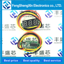 Red Three line precision DC digital voltmeter head LED DC4.5V-30V 0.28 Inch Mini Digital Voltmeter DC:0-100V