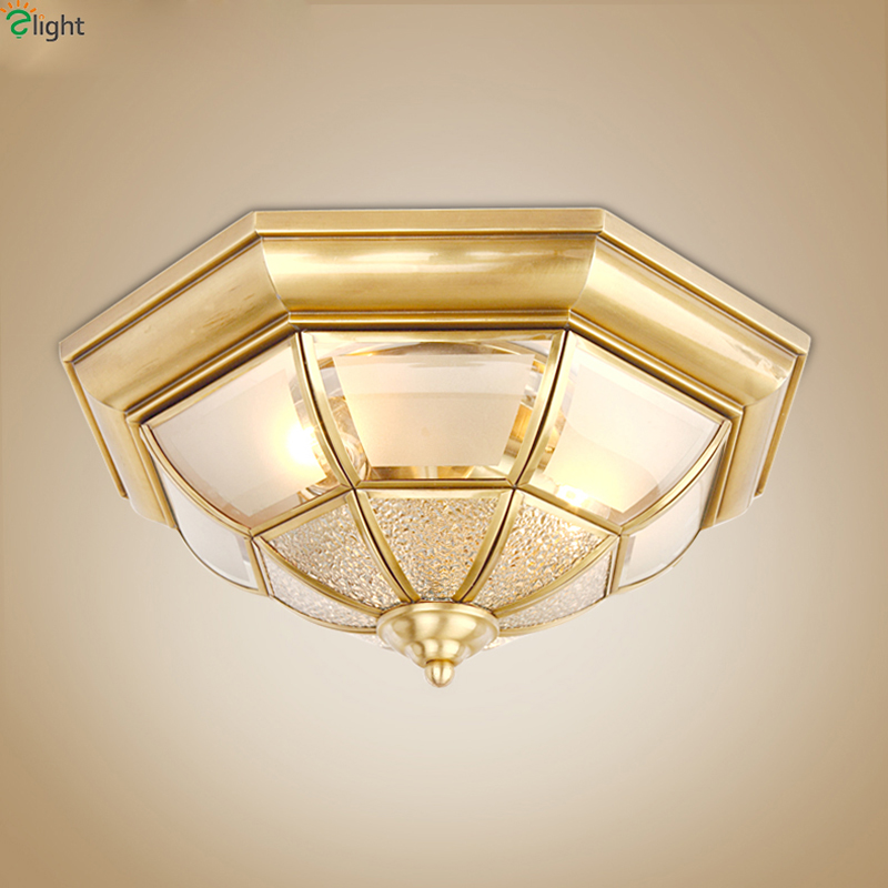 Europe Lustre Copper Led Ceiling Lights Fixtures Retro Glass Bedroom Led Ceiling Light Lamparas Corridor Ceiling Lamp Luminarias europe type restoring ancient ways is the copper single head ceiling lamp restaurant corridor corridor led to ceiling lamp