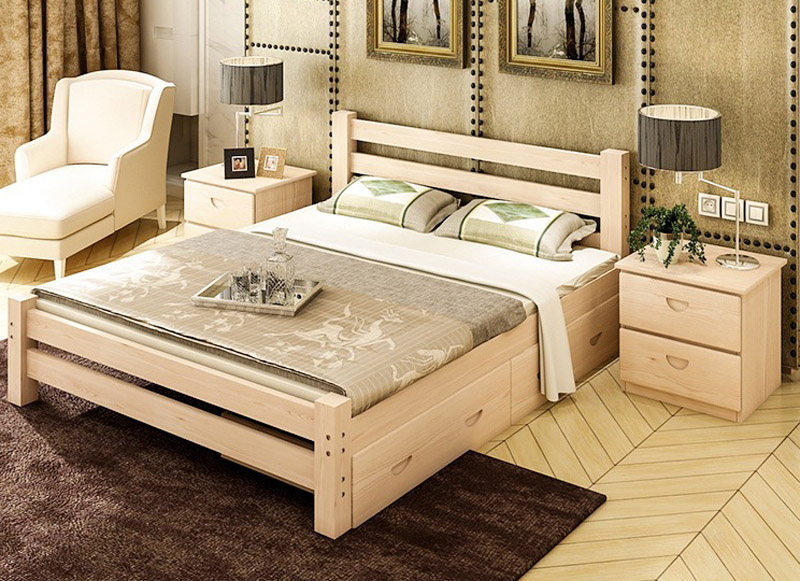 Trailer Bed With pine Beds 1 m 1.2 m 1.5 m 1.8 m baby solid ...