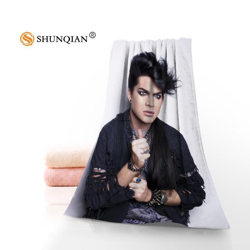 Cara/Toalla de baño Custom adam lambert microfibra cabello/cara/toallas de ducha tamaño 35x75 cm, 70x140 cm