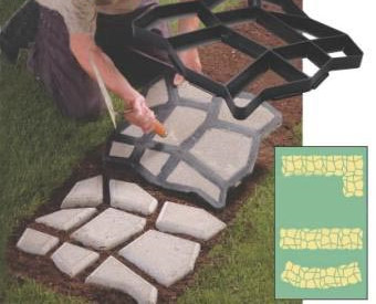 Concrete Stepping Stone Mold/paver Mold Strong Packing DIY Garden Tool  Path Mate For