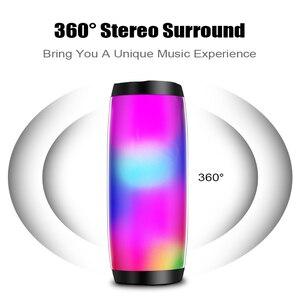 Image 3 - M & J 다채로운 LED 조명 블루투스 스피커 HIFI 스테레오 무선 휴대용 마이크 핸즈프리 지원 TF FM USB 플래시 Subwoffer