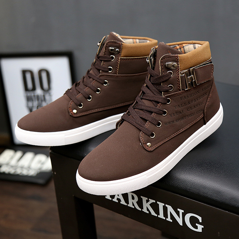 Image 5 - Sneakers men shoes 2019 lace up warm winter ankle boots men sneakers breathable solid canvas shoes men boots  zapatos de hombre-in Running Shoes from Sports & Entertainment