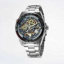 ! TOP BRAND hombres de lujo viento Manual reloj de acero del Stainess hombres esqueléticos del reloj mecánico Relogio Masculino reloj para hombre