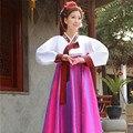 4 cores oferta limitada mulher elegante Korea hanbok tradicional vestido feminino Coreano nacional Traje De Dança para o desempenho