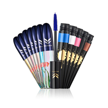 HUAMIANLI High Quality 2Pcs/Sets Professional Eye Makeup Combination Color Liquid Eyeliner Colorful Mascara Cosmetic Suit