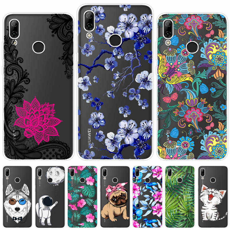 timeless design 1685a 5a2c5 Cases For Huawei Y6 2019 Phone Cover Silicone Colorful Printing Phone Back  Case Fundas Cover Coque For Huawei Y6 2019 6.09 Inch