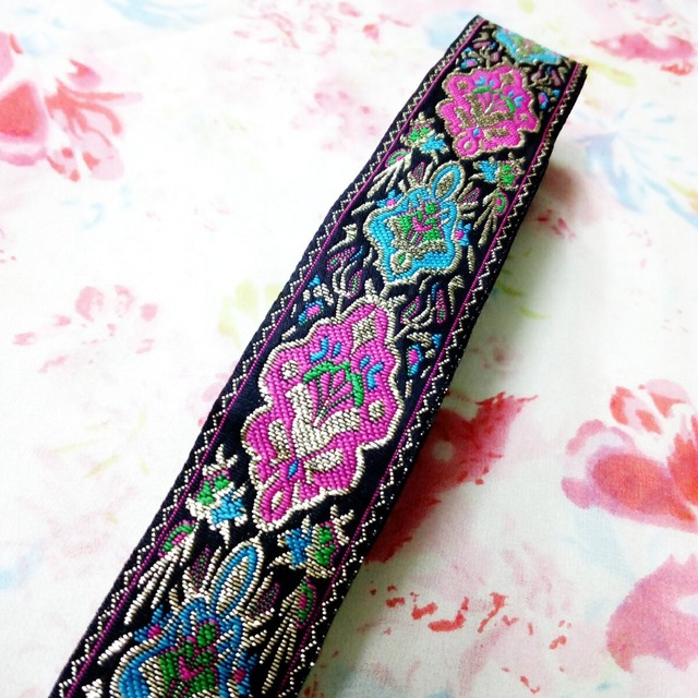 33cm 33mm 1 38 Pink Turquoise Filigree Colorful Beautiful Lotus