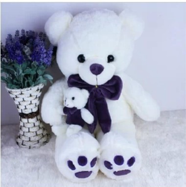 Free shipping 120cm teddy bear plush toy the mother come with kid bear plush toy the lovely bow bear doll teddy bear hug bear plush toy doll birthday gift blue bear about 120cm