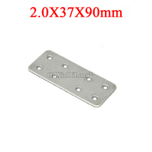 40PCS 304 Stainless Steel Flat Angle Corner Braces Furniture Connecting Fittings Board Frame Shelf Support Brackets 2.0X37X90mm