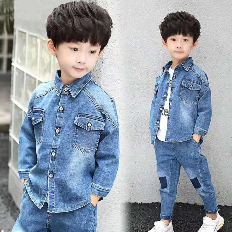 IENENS Young Boys Casual Coat Clothing Children Boy Denim Animal Print Jacket