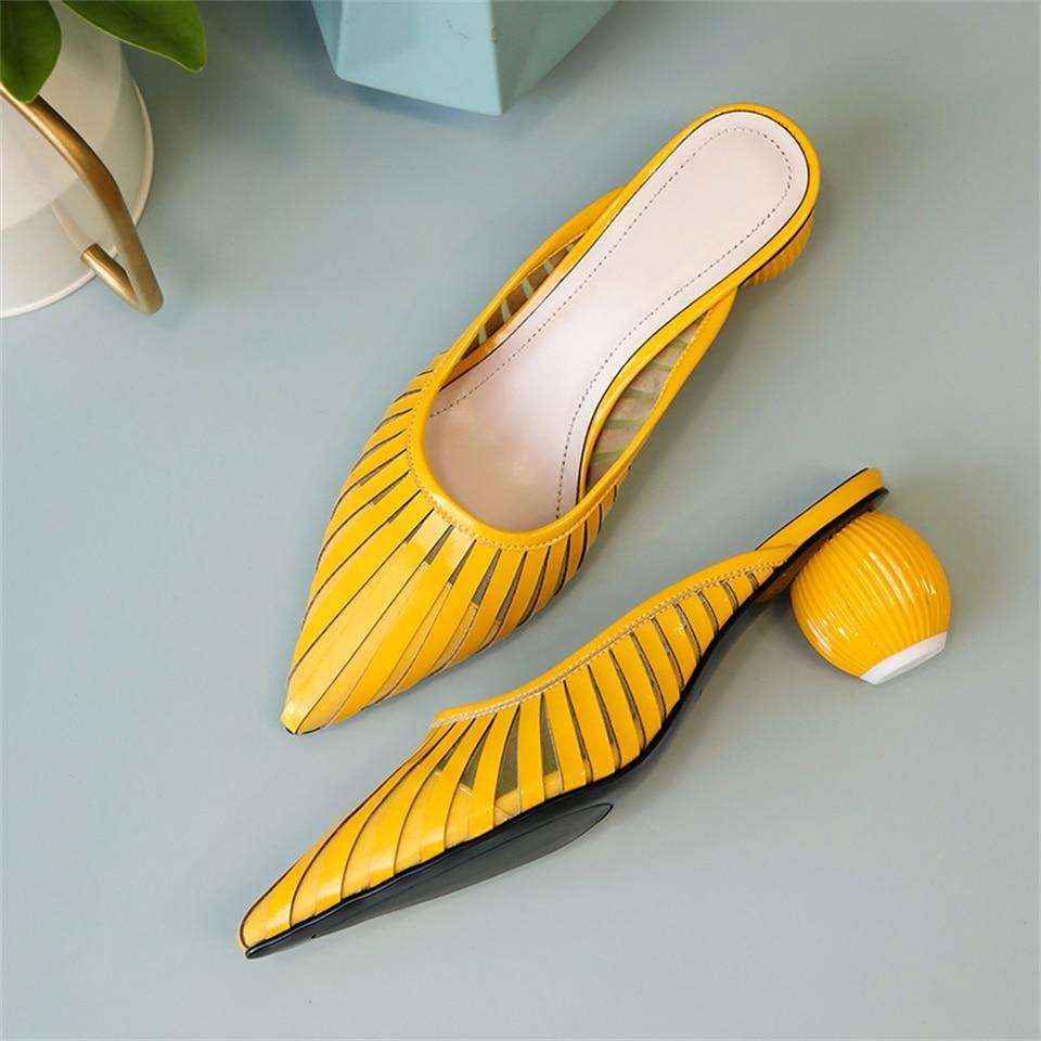 2019 nouveaux chaussons pour femmes design de mode talon rond confortable respirant pointu femmes pantoufles