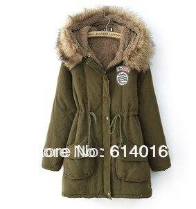 ФОТО 2017 women winter Wadded cotton jacket fur coat womens outwear coats and jackets fur hooded plus size fleece overcoat clothes