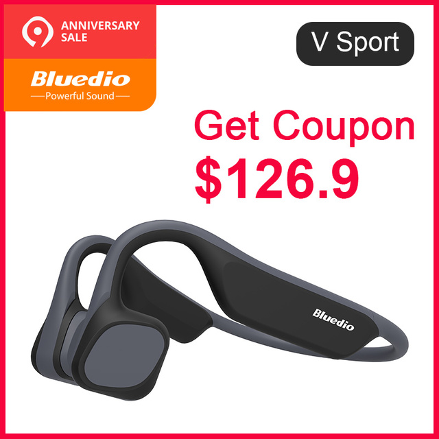 Bluedio V-Sport bluetooth 5.0 Bone Conduction headphone Swimming waterproof Outdoor Sports wireless Headphone with Memory card