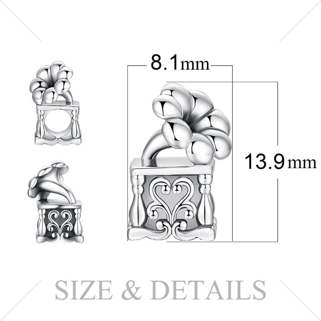 JewelryPalace 925 Sterling Silver Vintage Music Box Charm Beads For Women 2018 New Hot Sale Beautiful Gifts Fashion Jewelry