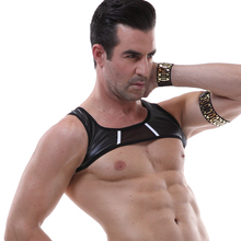 X-Shape Back Chest Muscle Leather Harness Erotic Man Belt Costume Strap Elastic Body Chest Harness Bondage Men Harness Hot Sexy