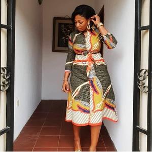Image 4 - שמלות אפריקאיות נשים אפריקאי בגדים אפריקה שמלת הדפסת דאשיקי גבירותיי בגדי אנקרה בתוספת גודל אפריקה נשים שמלה