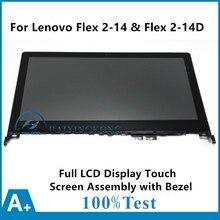 Neue Touch-glas Digitizer + Lcd-anzeige + Lünette N140BGE-EB3 lp140wf3-spl1 für lenovo flex 2 14 20404 flex 2 14d 20376
