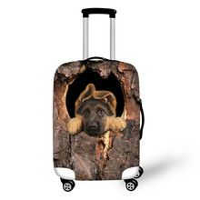 Tree cave Cat and dog print Travel Waterproof Bags Luggage Cover Elastic Stretch Protect Suitcase Covers Apply to 18''-30'' Case
