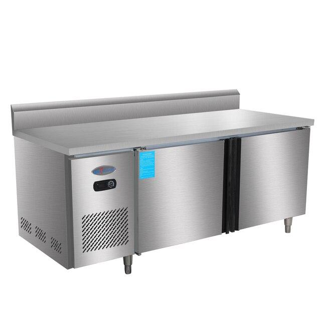 1.8m 400 Liter Stainless Steel Restaurant Kitchen Under Counter Worktop  Bench Top Commercial Refrigerator