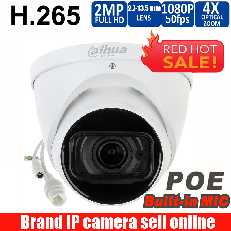 Original Dahua logo IPC-HDW5231R-ZE 2MP WDR IR Eyeball Network Camera  2 7mm-13 5mm lens Starlight Network Camera with micphone