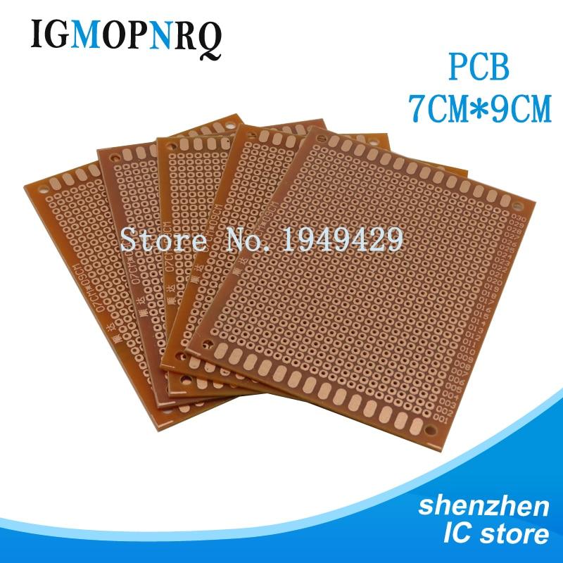 5pcs 5x7cm Diy Prototype Paper Pcb Universal Circuit Board Breadboard