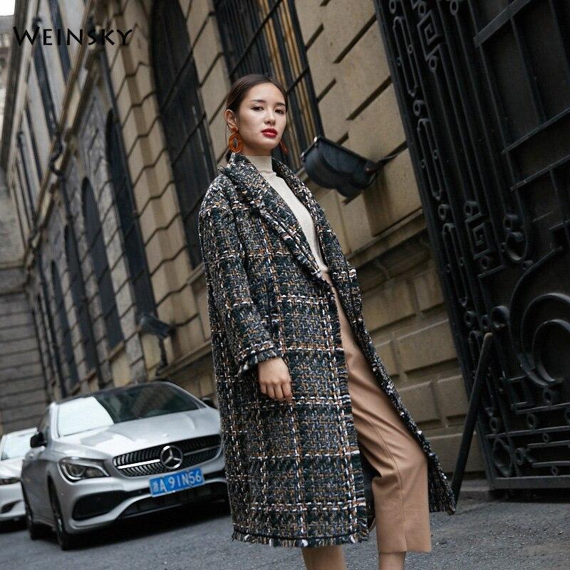 8e1d8810b46ba Manteaux Long Weinsky Style Point Picture Mode Hiver 2018 Manteau Pardessus  Automne Vintage Ouvrir Dames De Femmes Laine Bureau 155qSrI
