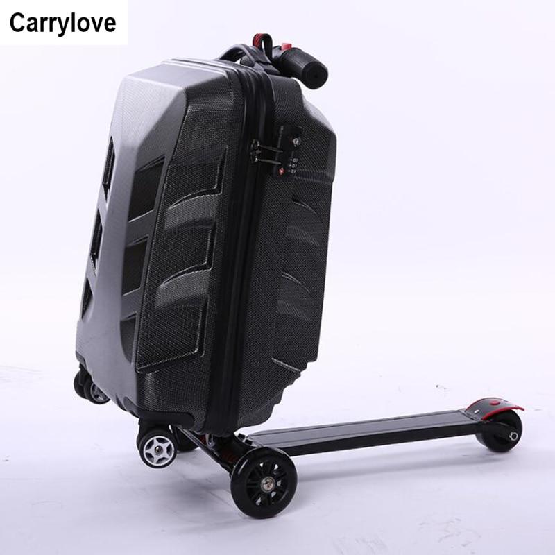 Reise Tale 9% Off Roller Trolley Roller Koffer Skateboard Gepäck Mala Escolar