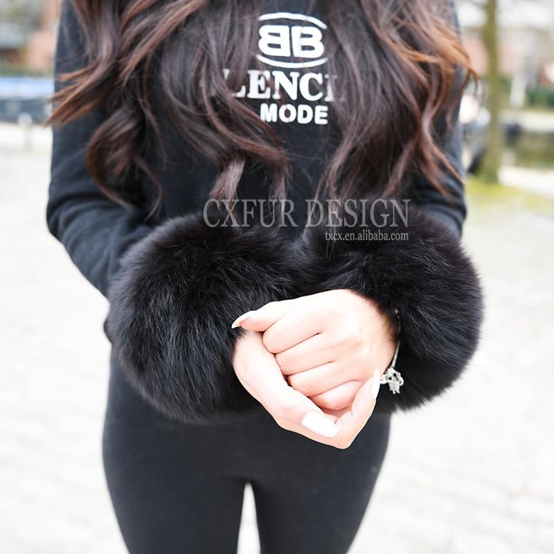 Bekleidung Zubehör Damen-accessoires 2019 Neuer Stil Kostenloser Versand Echt Fox Pelz Slap Auf Manschetten/armbänder Pelz Handgelenk Manschette/fuchs Pelz Manschette