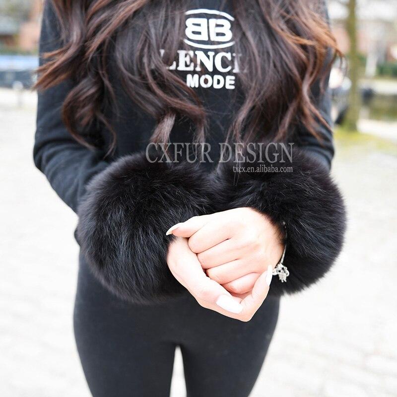 Armstulpen 2019 Neuer Stil Kostenloser Versand Echt Fox Pelz Slap Auf Manschetten/armbänder Pelz Handgelenk Manschette/fuchs Pelz Manschette
