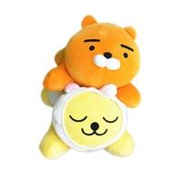 Korean pop RYAN APEACH MUZI plush toy cute Cartoon animal pillow soft stuffed lion doll High quality gift For girlfriend